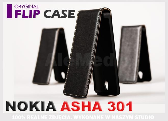 NOKIA 301 ASHA Etui Pokrowiec Futerał + FOLIA LCD